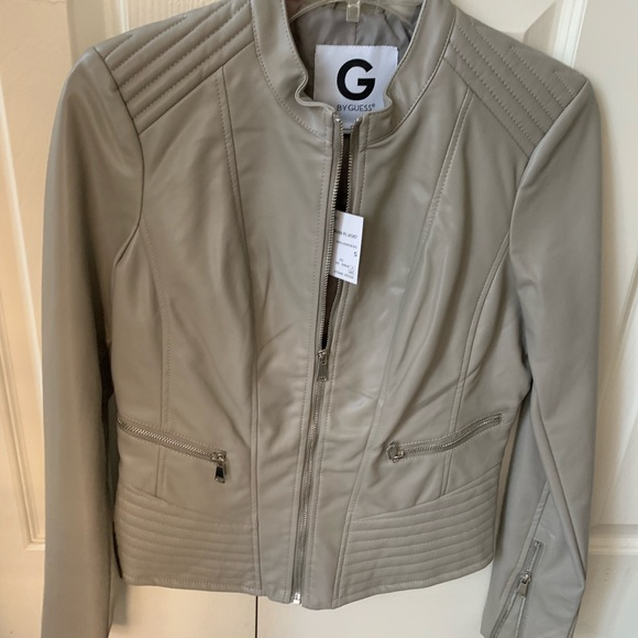 Guess Jackets & Blazers - Guess faux leather jacket